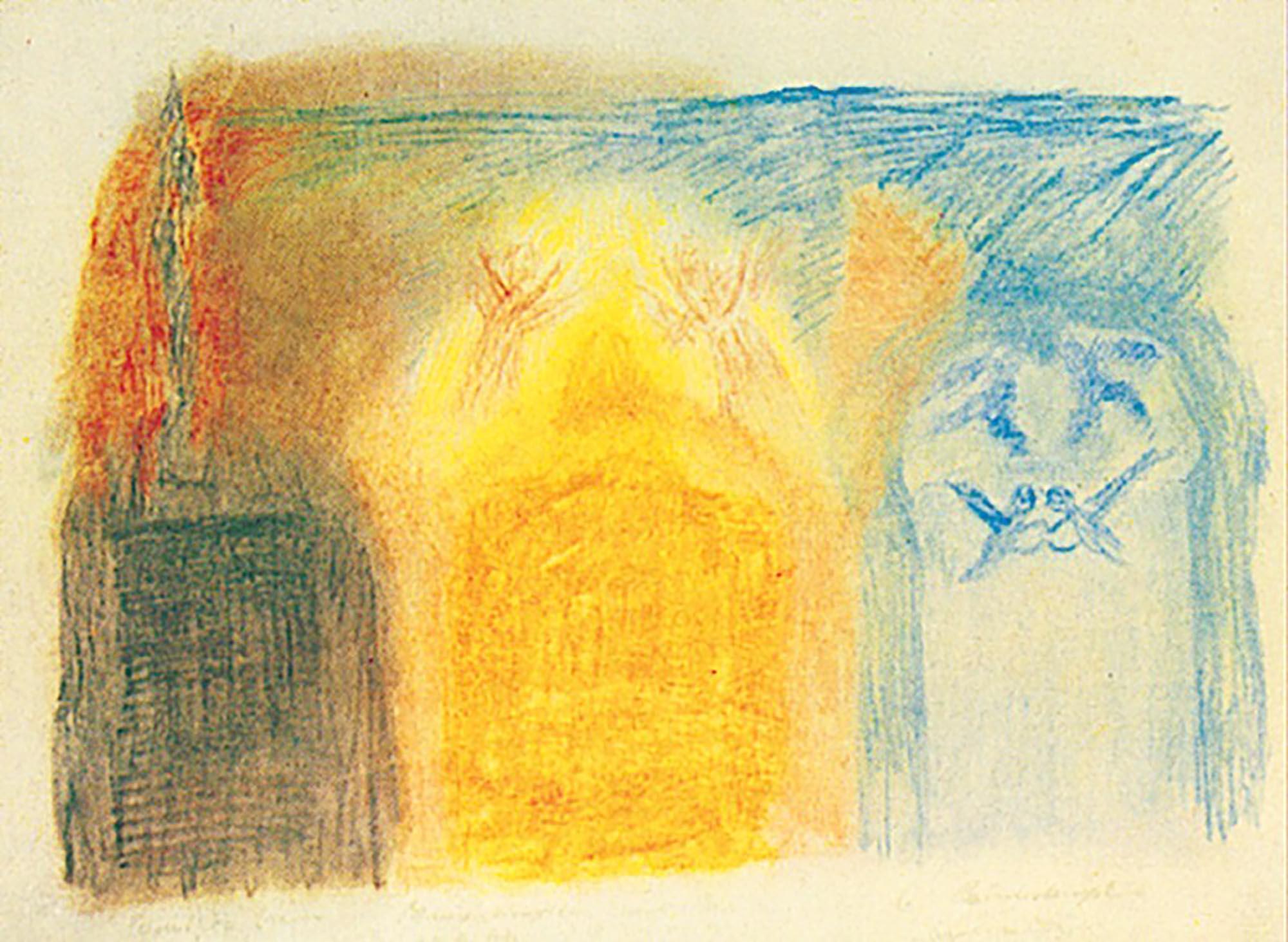 Bild Skizze von R. Steiner, 1918