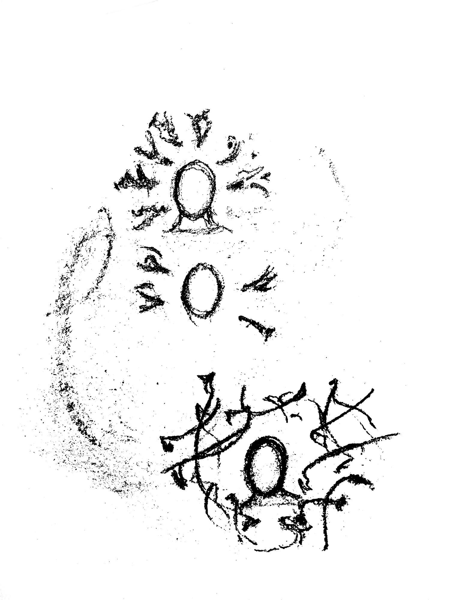 Léonard Veuthey, Ouverture et Agitation, Tusche auf Papier, 2018