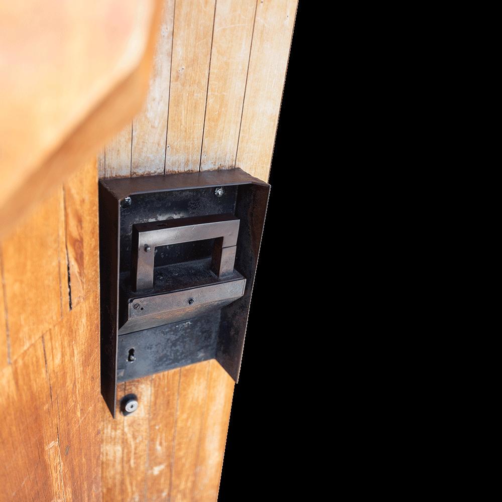 Foto: Tobin Meyers, Türklinke am Goetheanum, Glashaus, Eingangstür