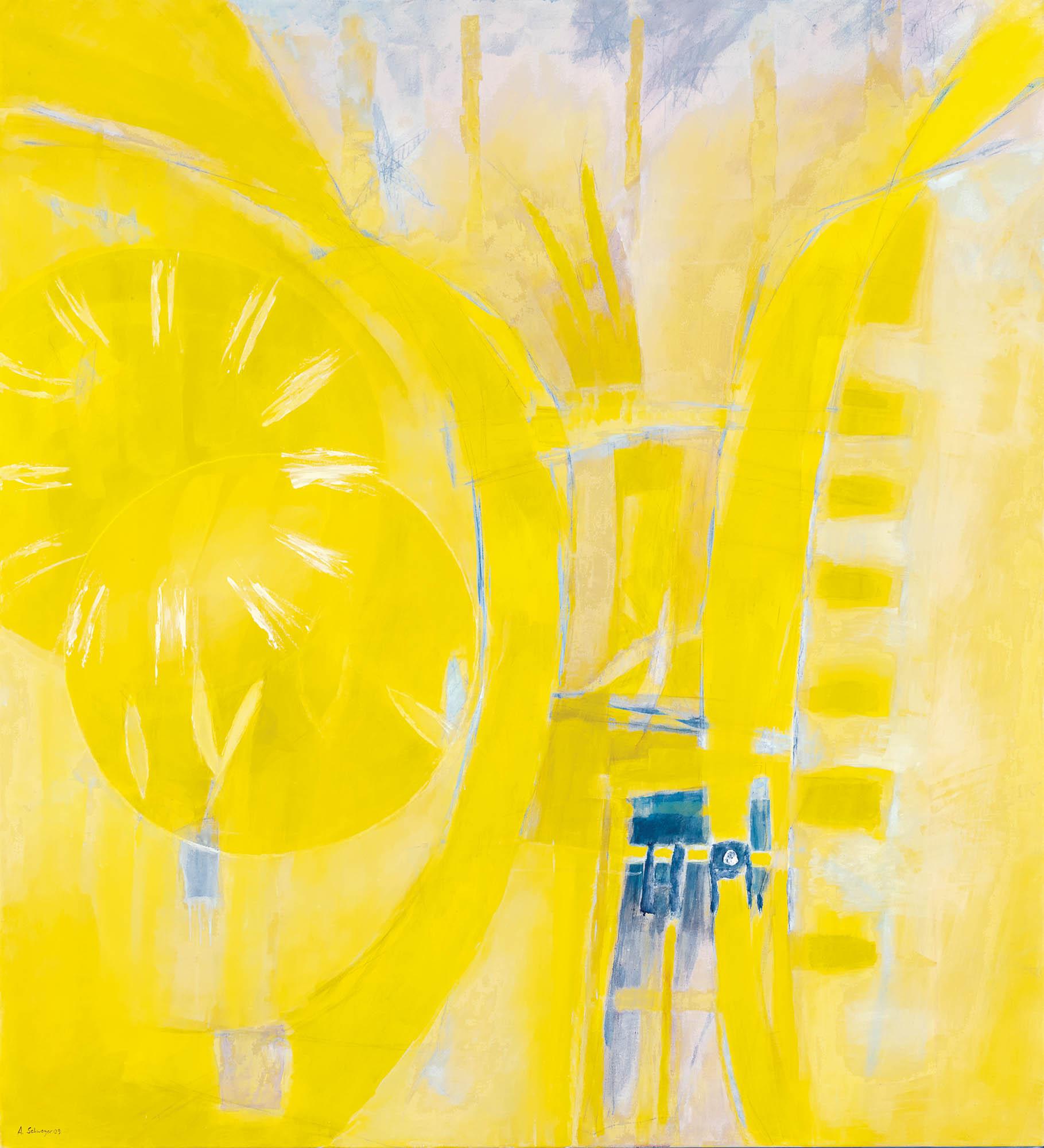 Juni (Mathematismus), 2009, Mischtechnik auf Leinwand, 165 × 150 cm