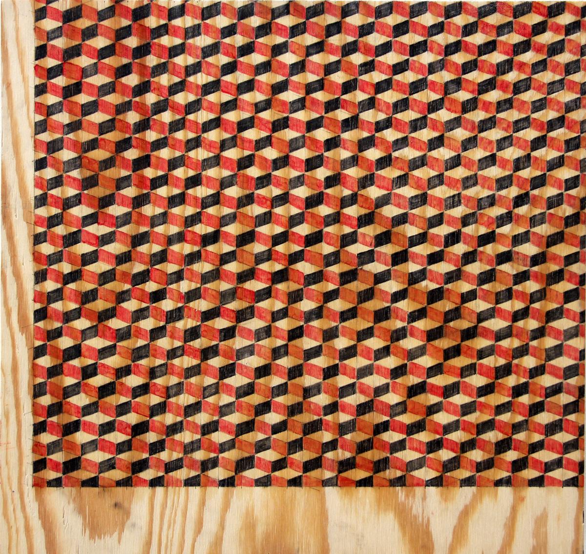 40x40 cm  blyerts på trä