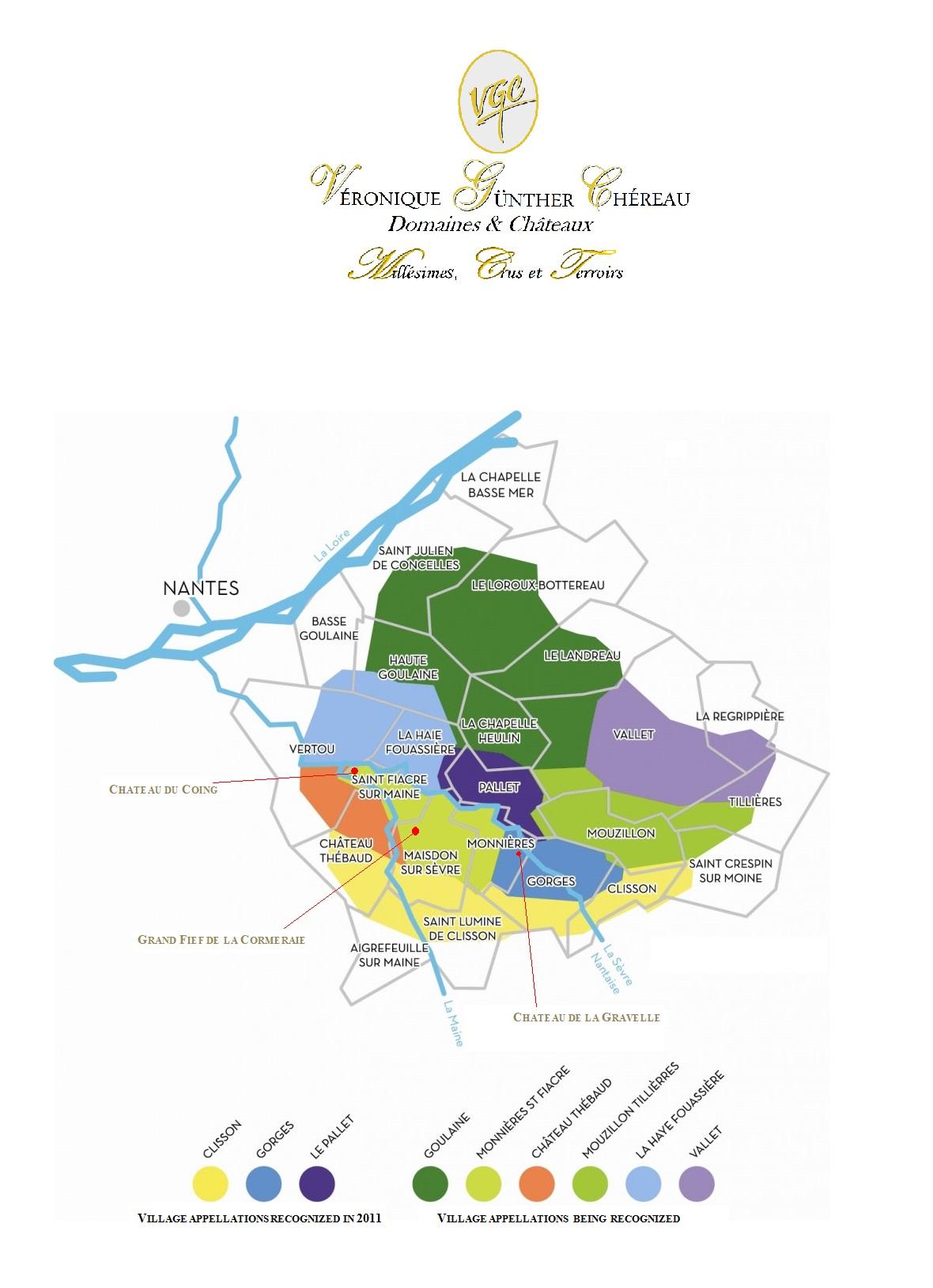 VGC estates in the Muscadet Appellation Map (www.vgc.fr)