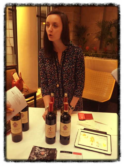 Caroline Decoster presenting 2015 vintage at a Trade Event (Photo credit: Sumi_Sumilier