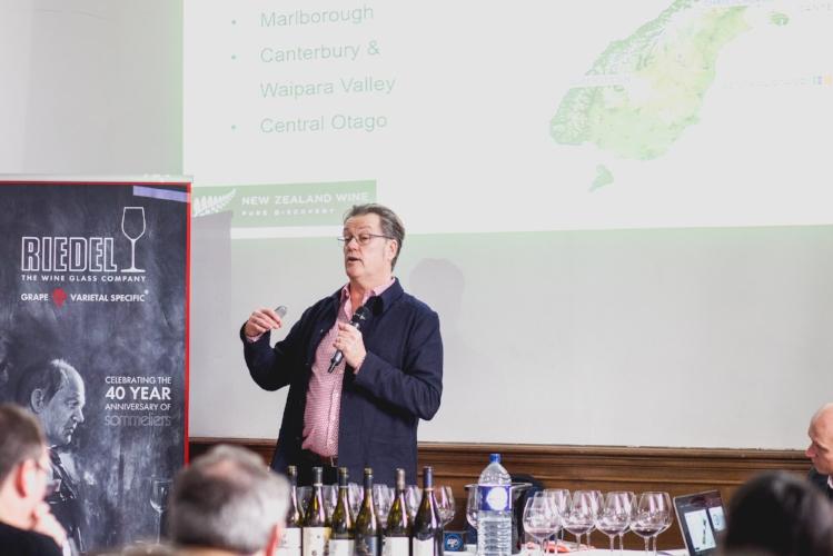 Mr Peter McCombie MW on New Zealand Wines Masterclass (Photo credit- New Zealand Wine Growers Association)