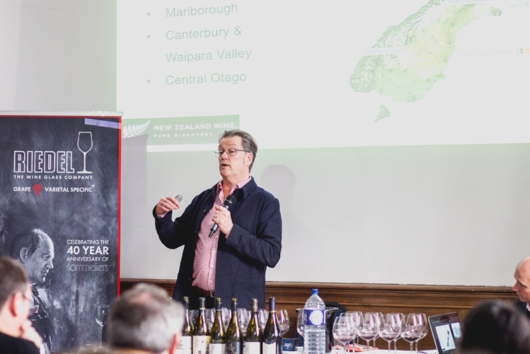 Mr Peter McCombie MW on New Zealand Wines Masterclass (Photo credit- New Zealand Wine Growers Association)