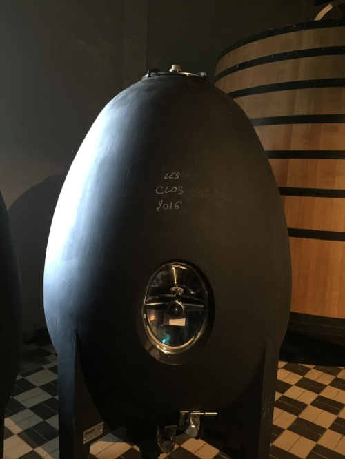 Concrete Egg used at the winery in J M Brocard (Photo credit: Sumi_Sumilier)