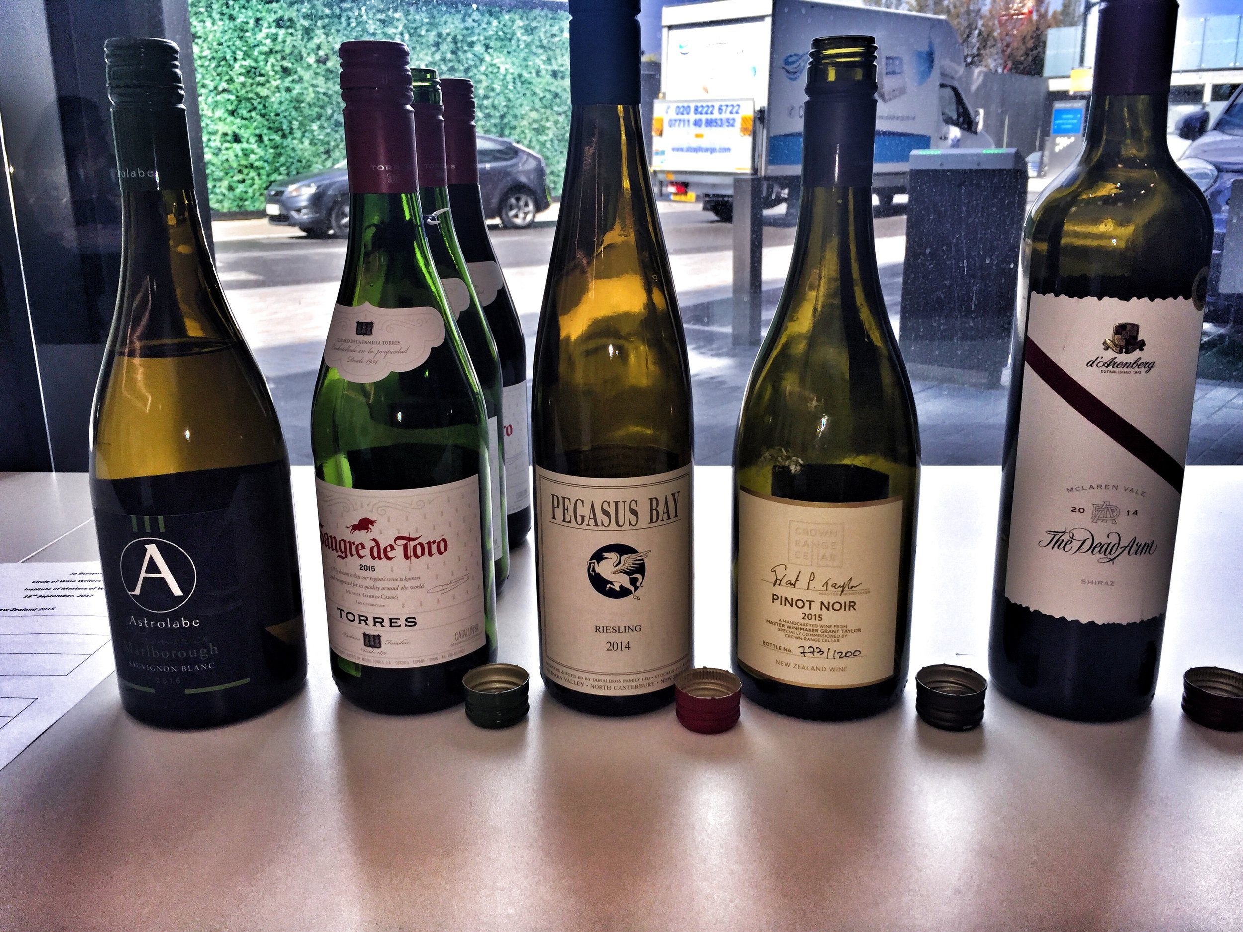 Wines tasted with music tracks as part of Jo Burzysnka's Wine and Sound Seminar (Photo credits: Sumi_Sumilier)