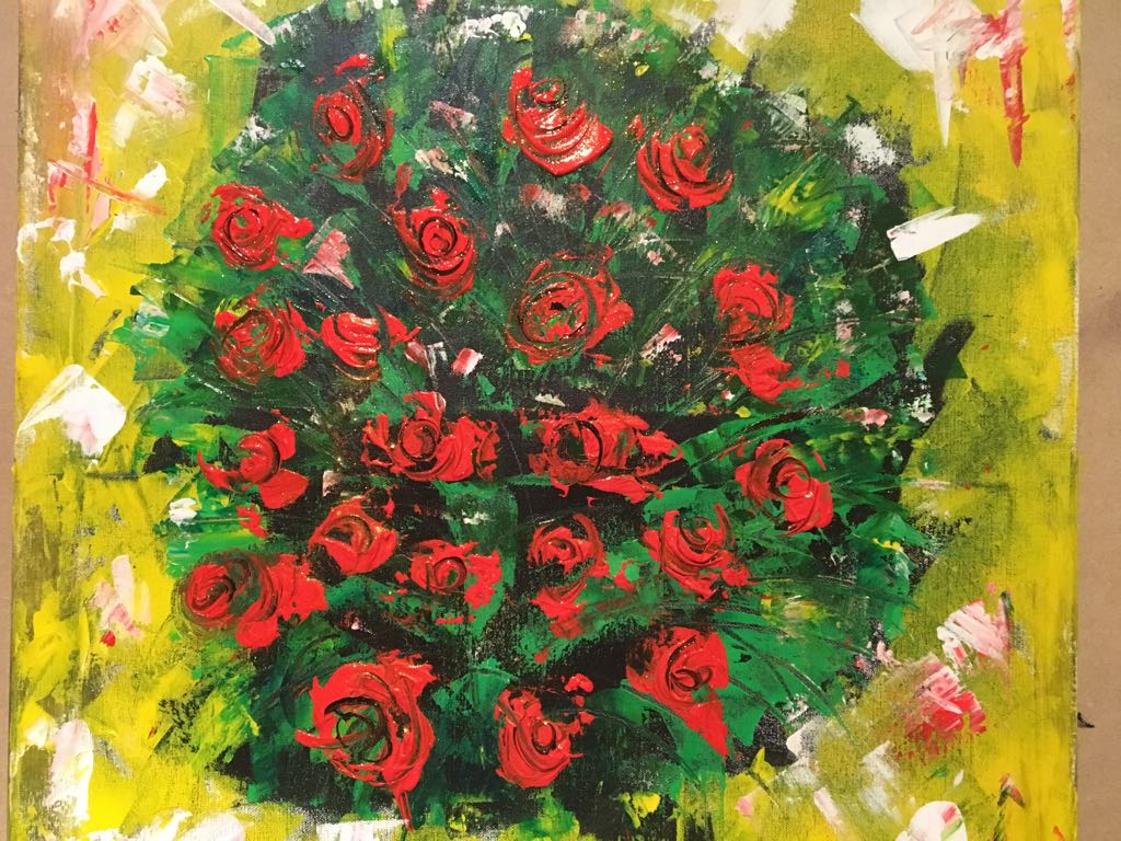 One of Shivani's latest art works on the occasion of Valentine's Day