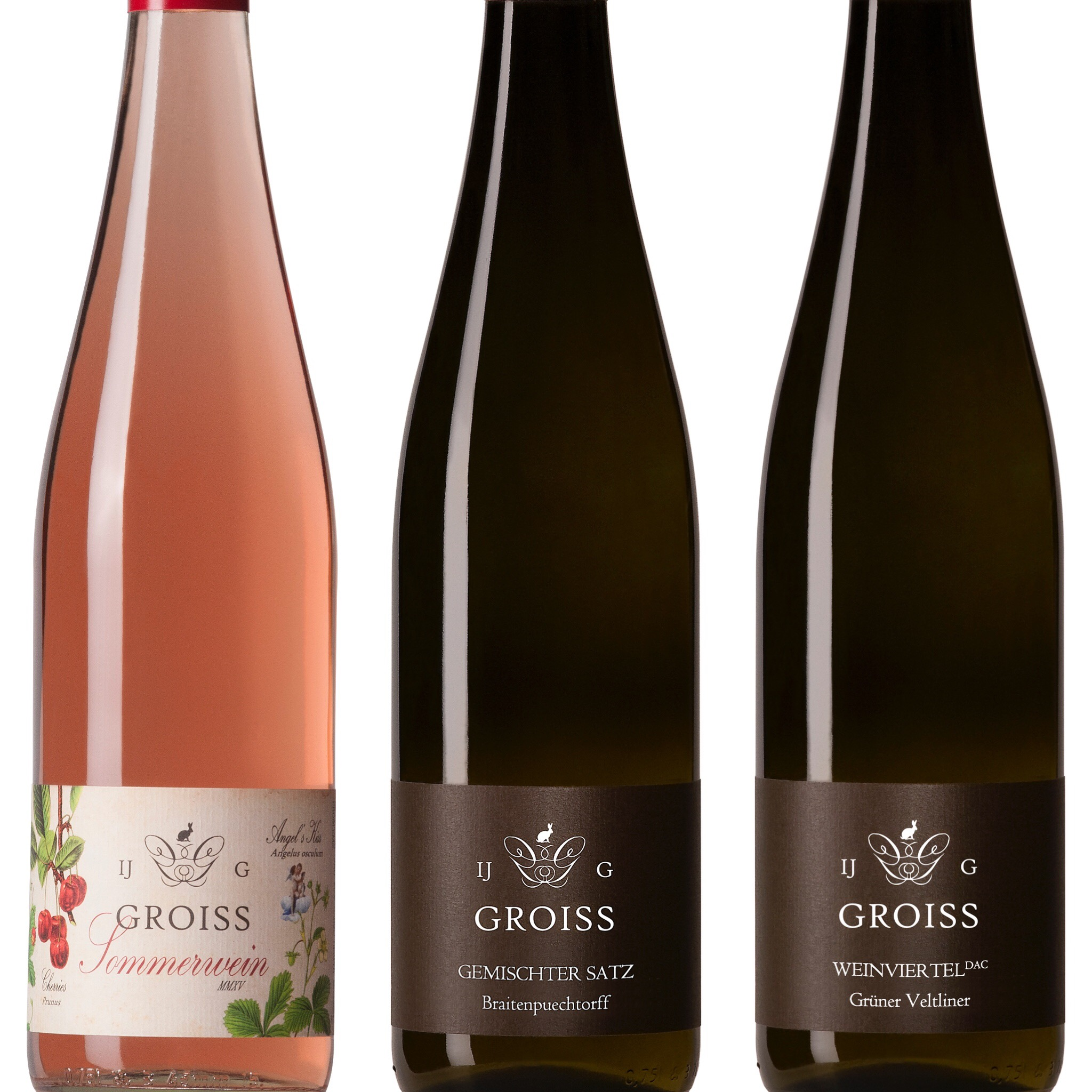 Some of Ingrid's favourites from her range of wines (Photo credit: Groiss)
