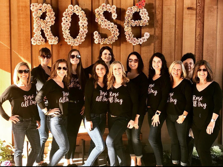 The ladies with the iron hands for winemaking. The new generation of upcoming women in wine with Sierra- third from bottom left (Credit: Sierra Zeiter)