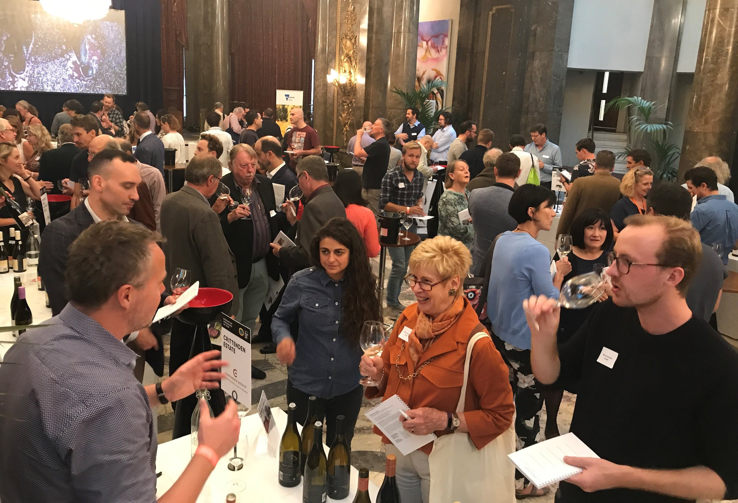 Trade Tasting with the winemakers of MP vignerons association in session during the day (Image credits: Emma Baumann from Wine Australia)