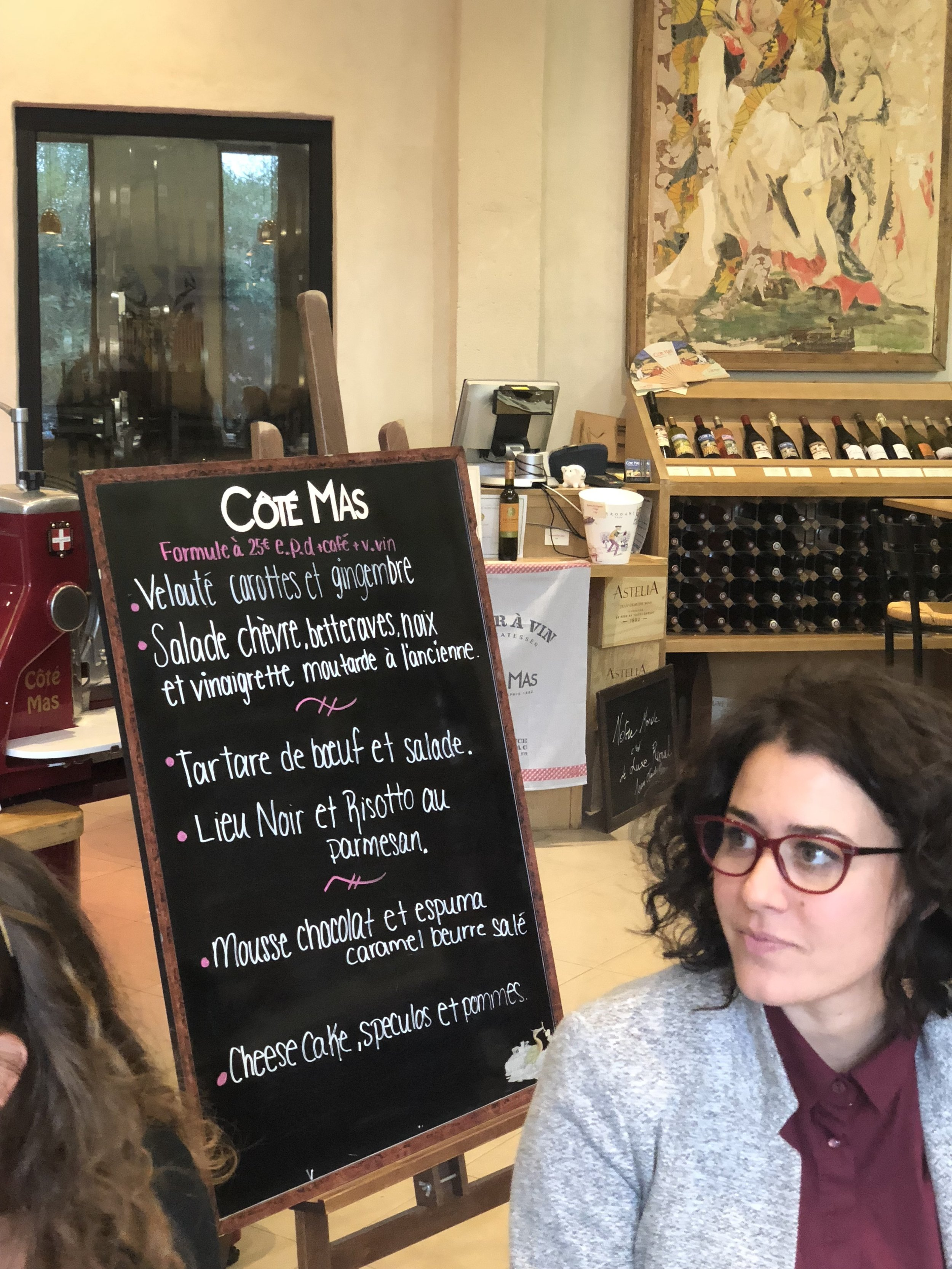 Menu at Restaurant Cote Mas (Image: Sumita Sarma)