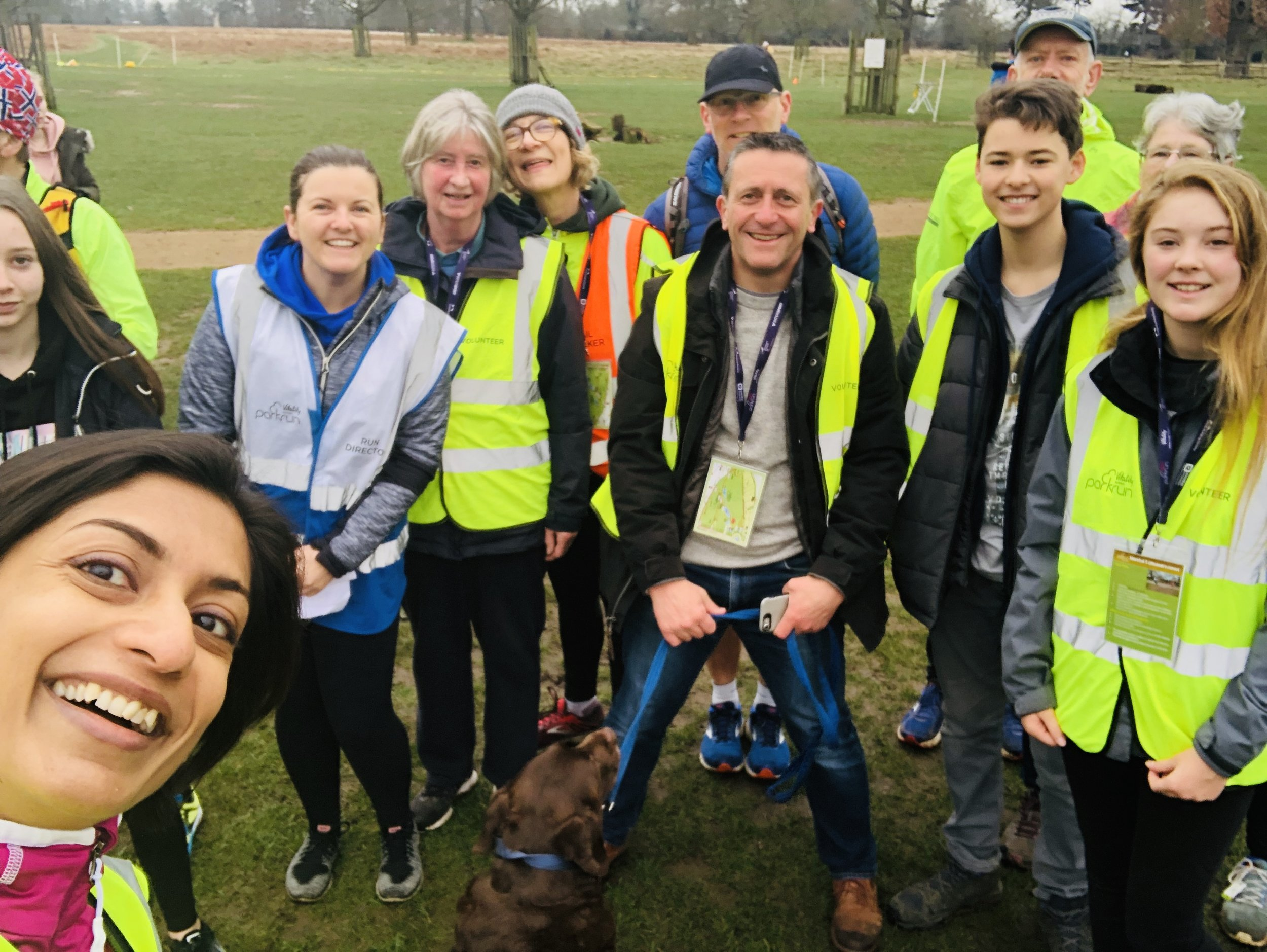 Volunteers at Parkrun start gathering and getting the park ready as early as 8 am itself! There is a lot to get done to make this run fun, organised and seamless (Image: Sumi Sarma)