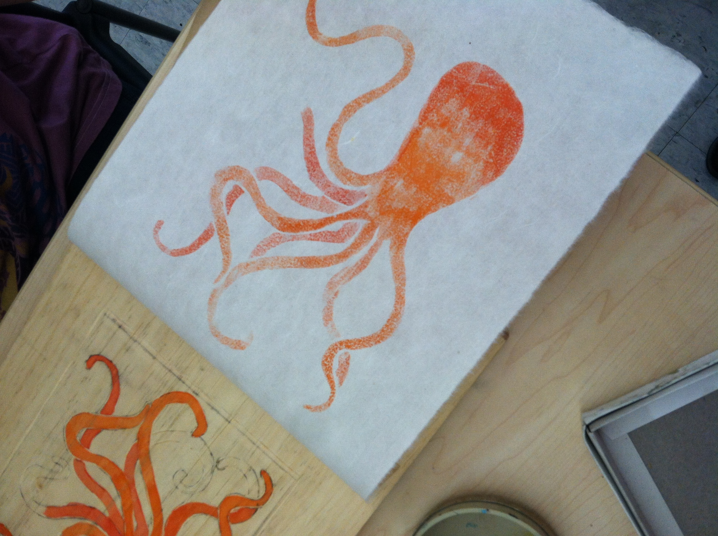 Octopus print by Katie Boulter-Dimock.