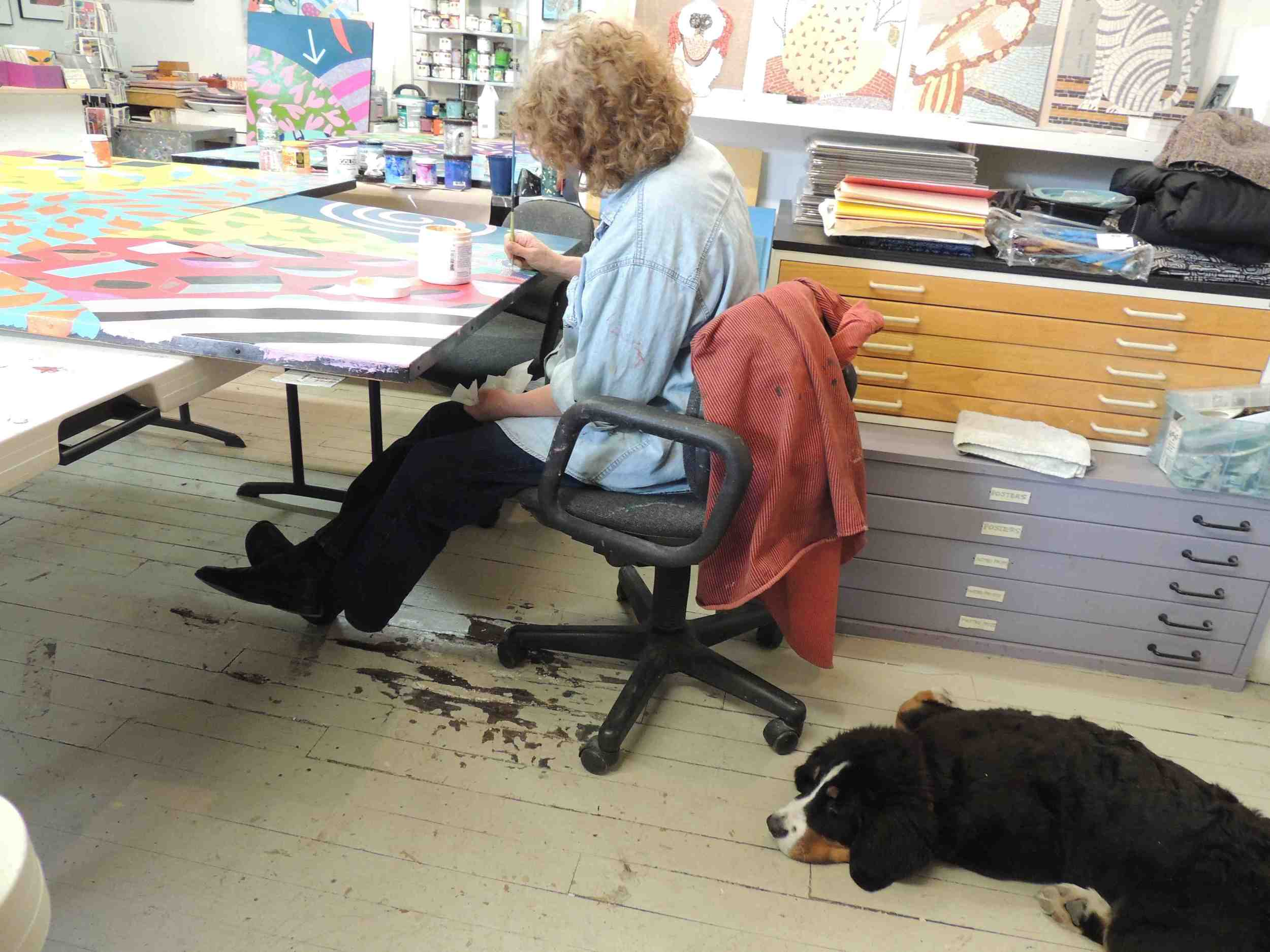 Regina Gaudette and my new puppy Maya were both very dedicated to the project.