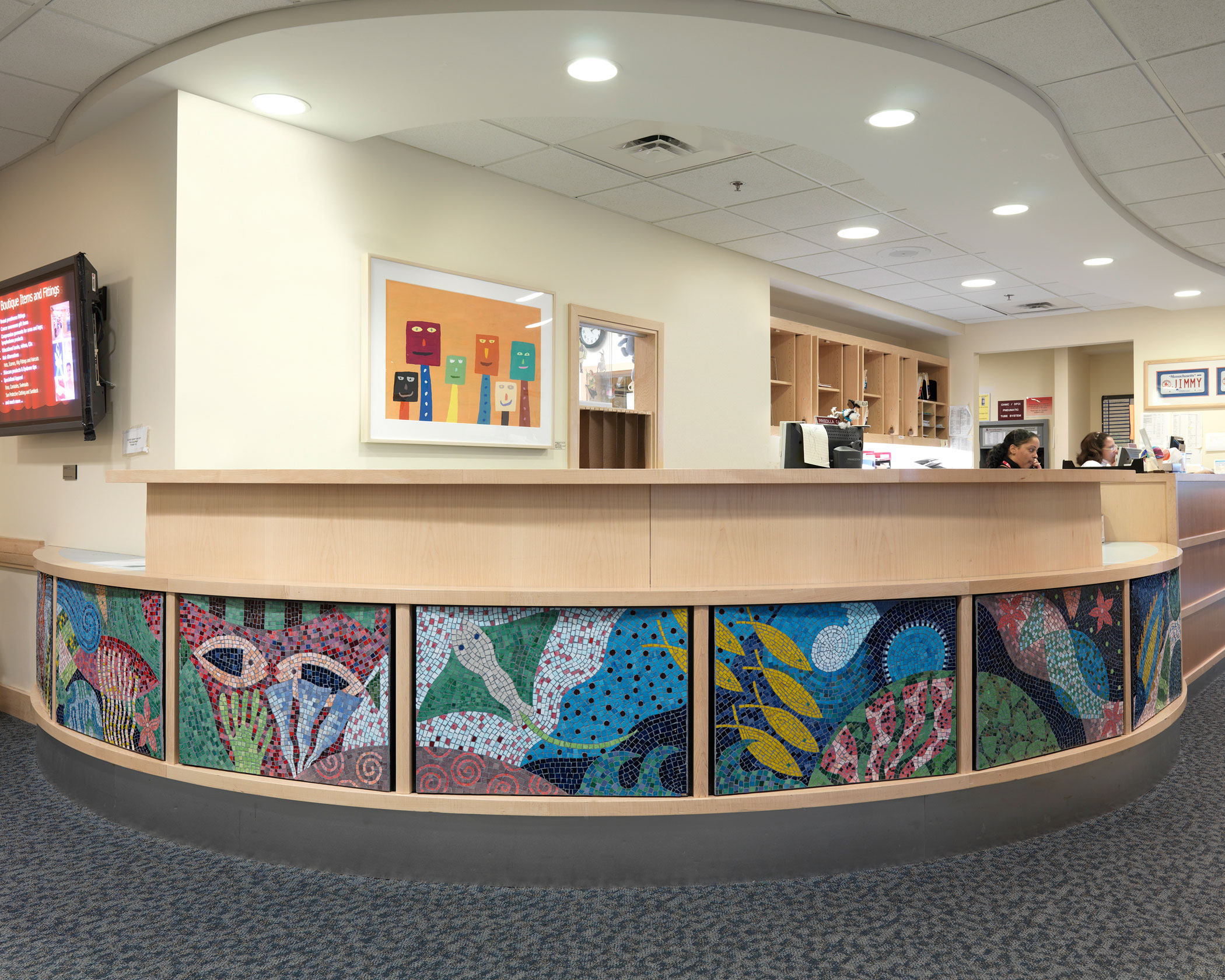 A Watery World, With Reef Residents mosaic