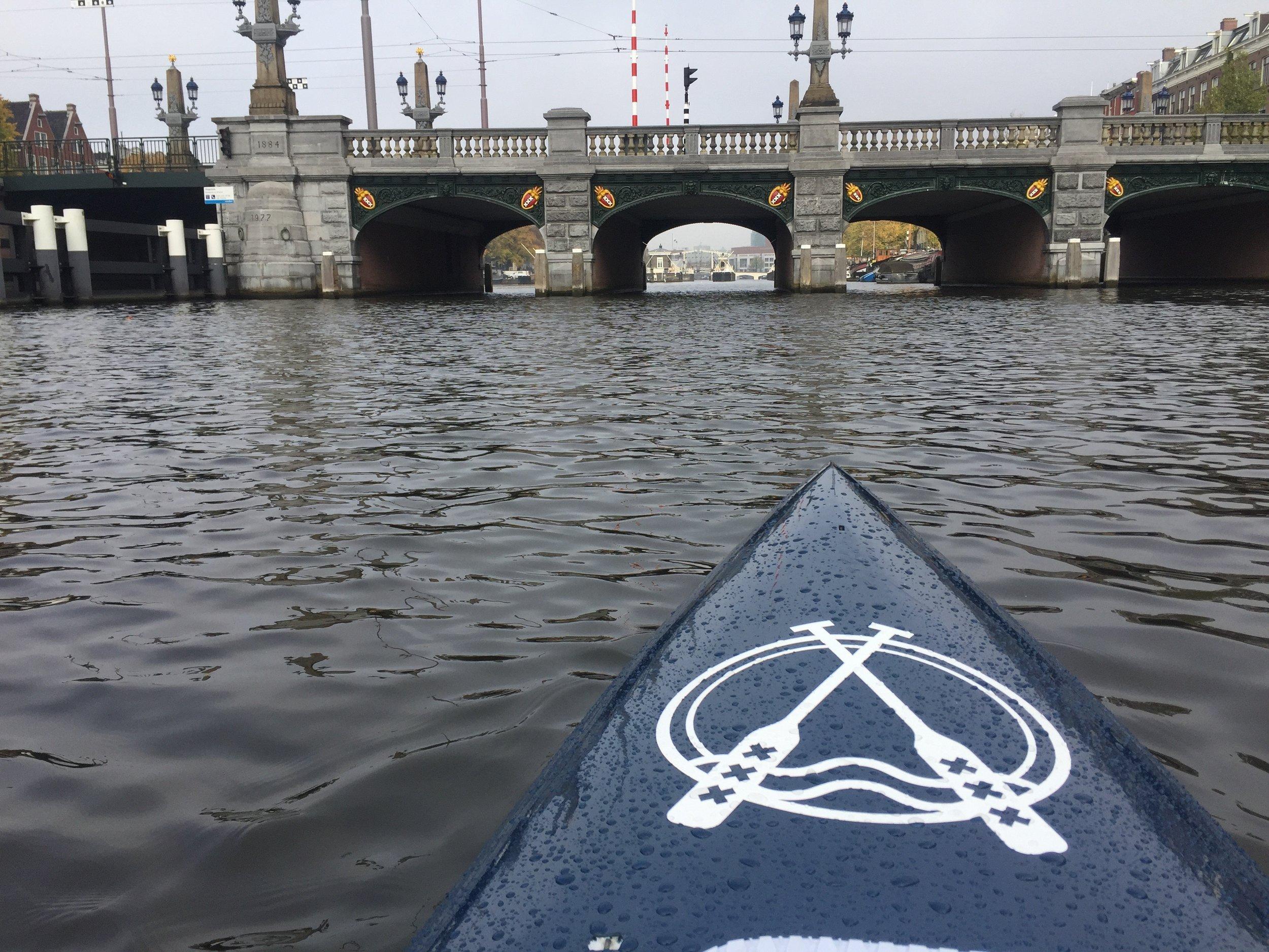 Amsterdam entrance bridge.