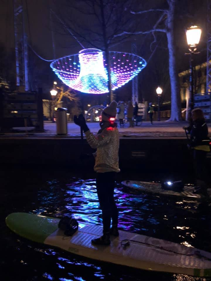 Amsterdam light and night sup tour