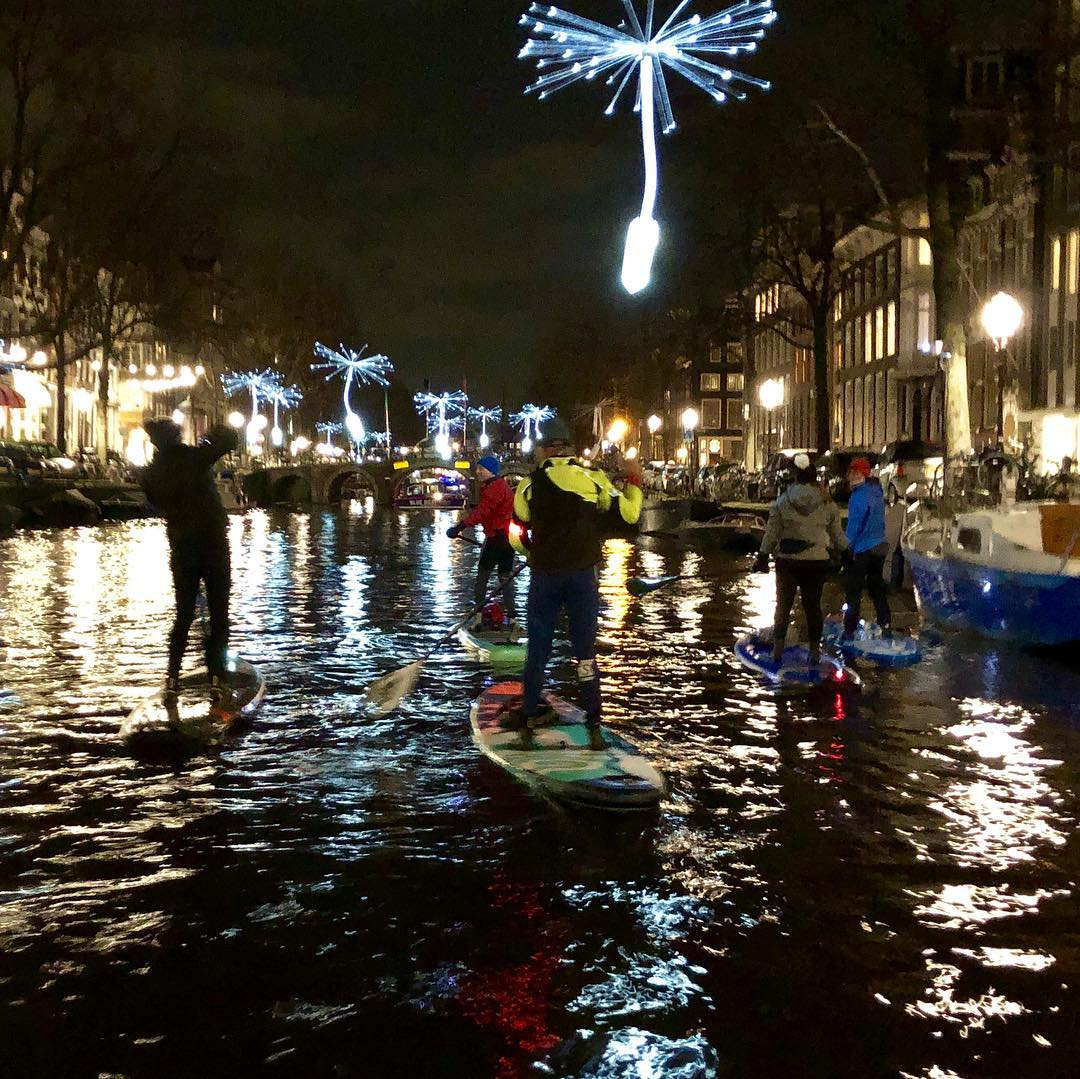 light and nigh sup tour light amsterdam festival