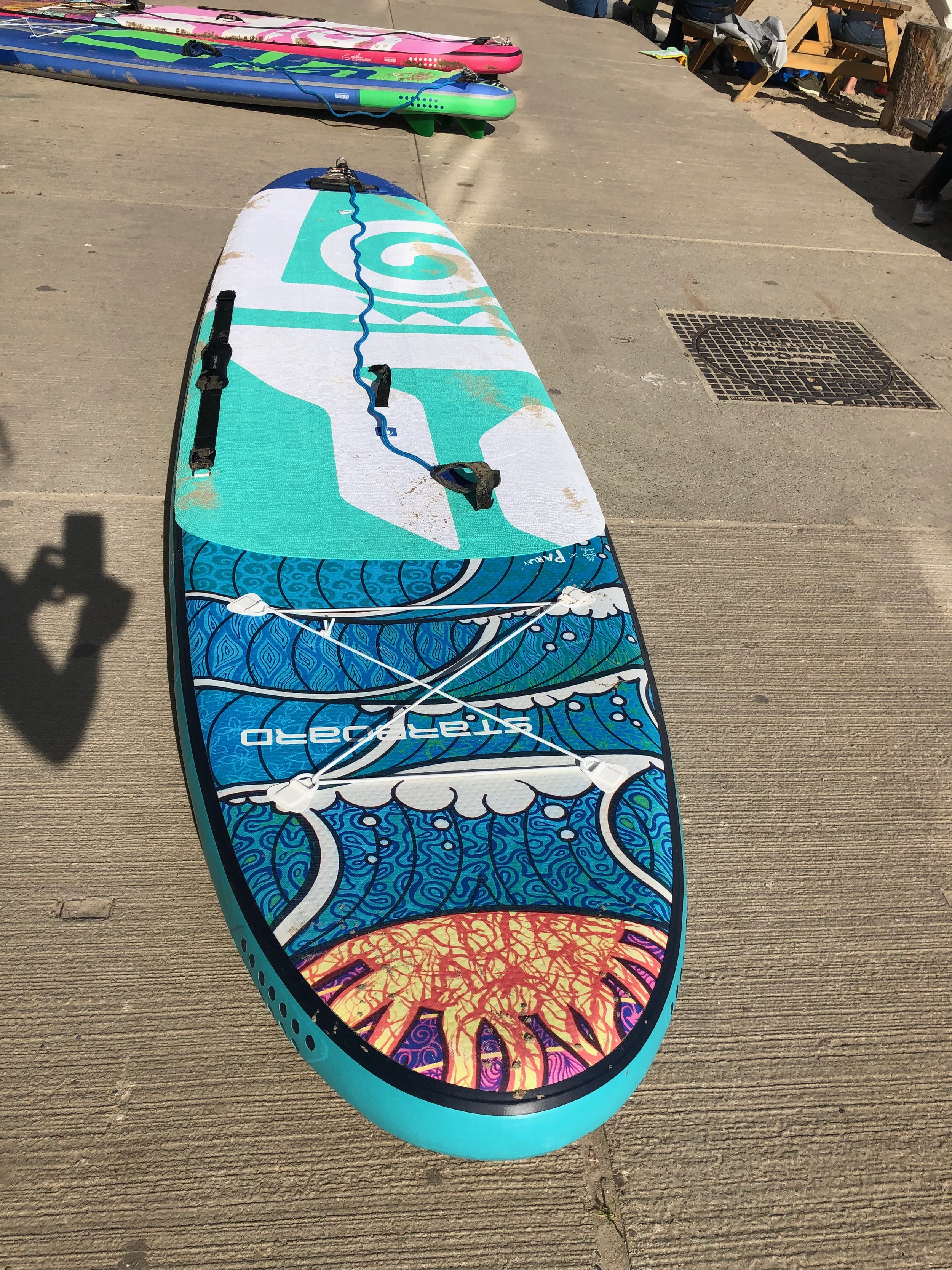 Starboard Tikhine inflatable 10.2 or 11.2 €750  including bag, pump, carry handle, leash and paddle