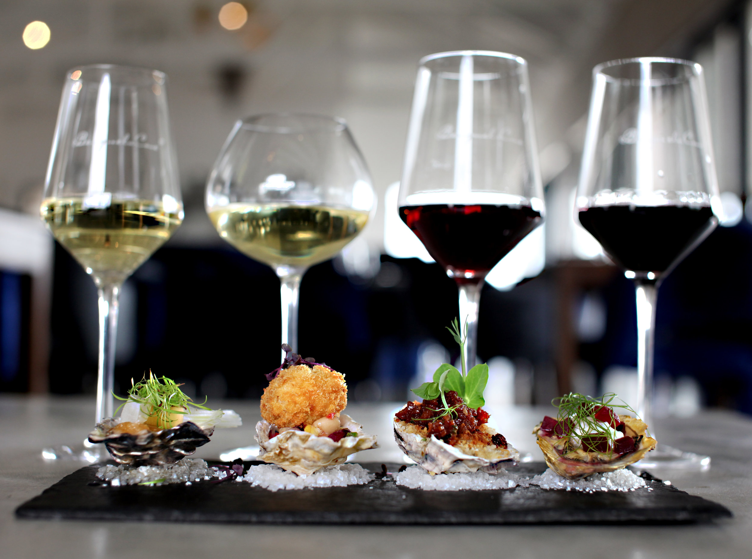 oyster and wine pairing -