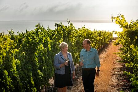 Penny Streeter OBE (Owner) & Johann Fourie (Winemaker)
