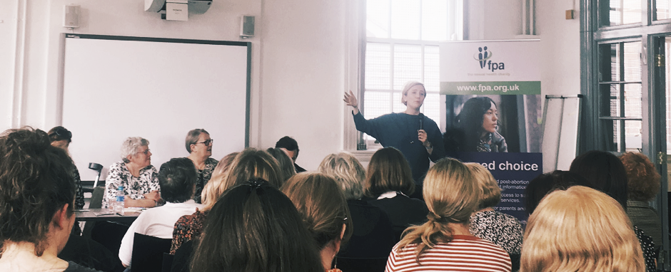 Stella Creasy speaking at an FPANI event at Féile an Phobail.Picture Credit Rachel Powell