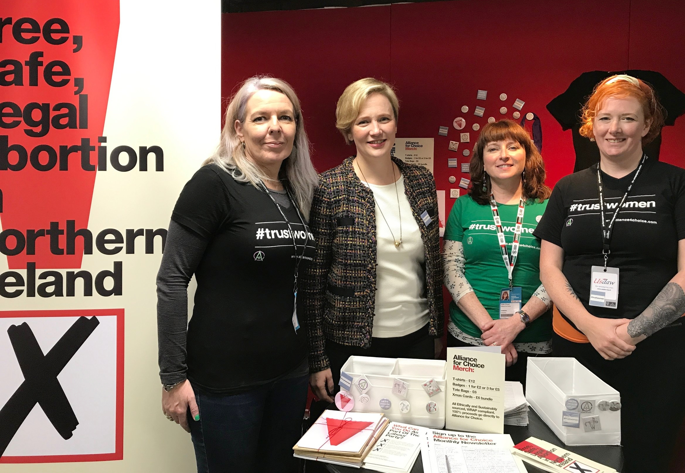 Stella Creasy MP with members of Alliance for Choice