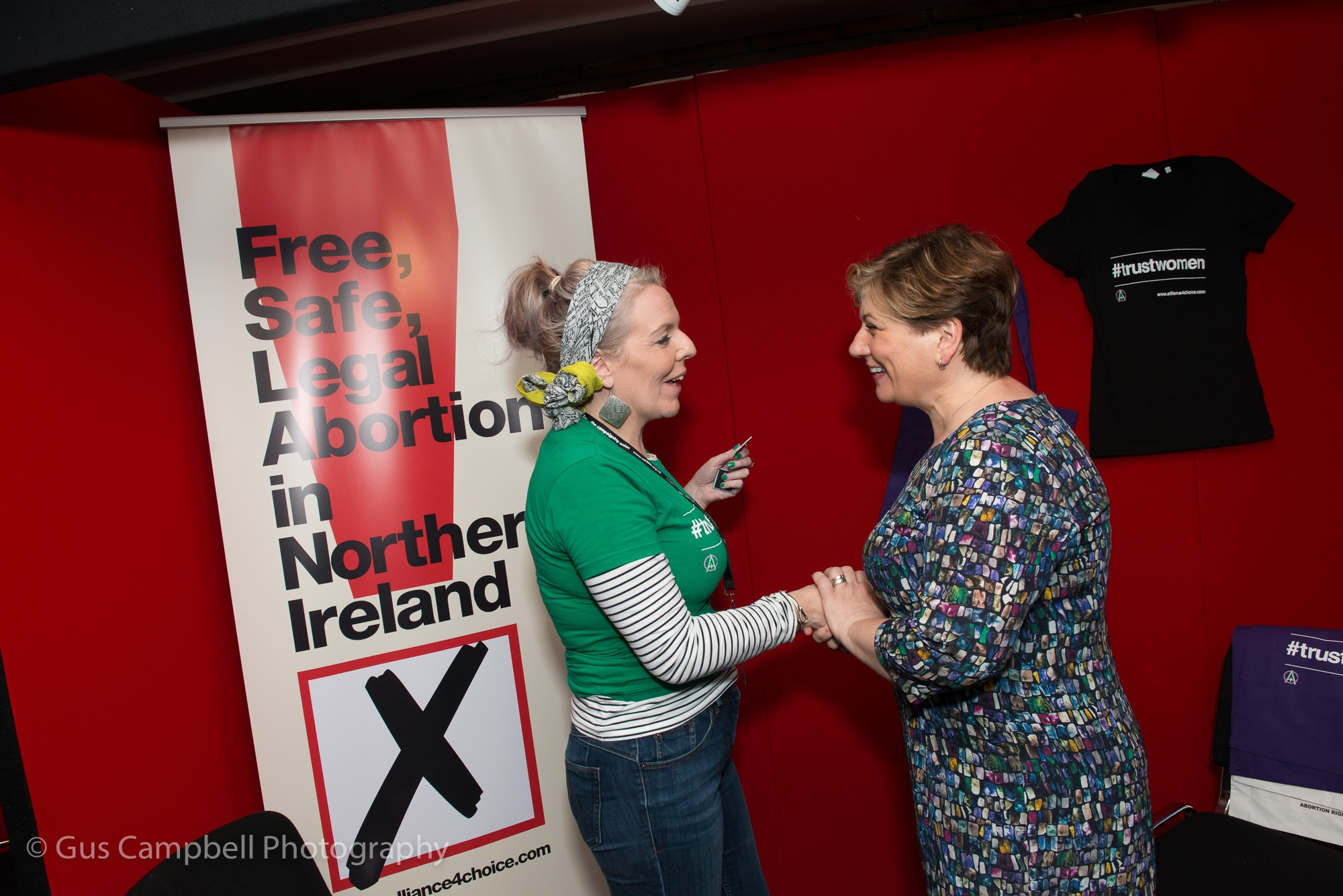 Emily Thornberry talks to one of our activists at the start of the conference