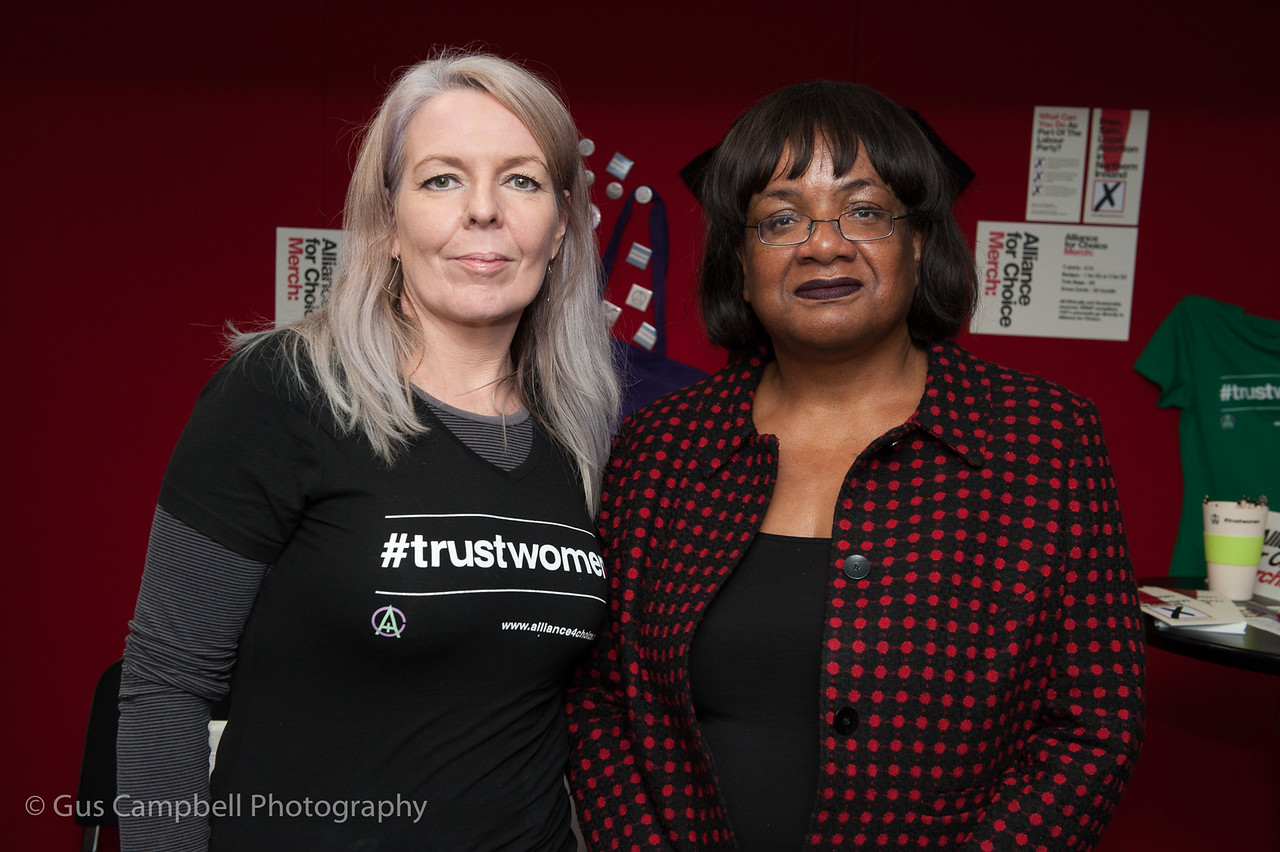 Diane Abbott with Naomi at the Labour Party Conference