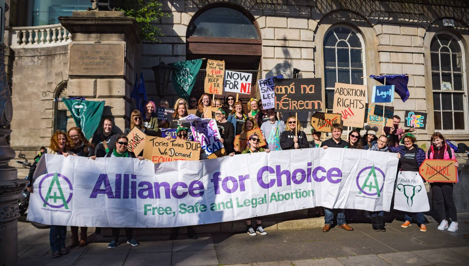 Alliance for Choice, Belfast at the Dublin Rally for Choice, September 29th 2018. Photo: Brendan Harkin