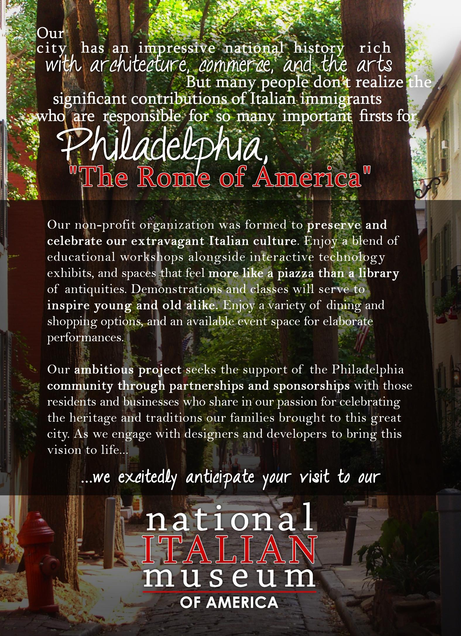 National Italian Museum of America - Poster for Interest