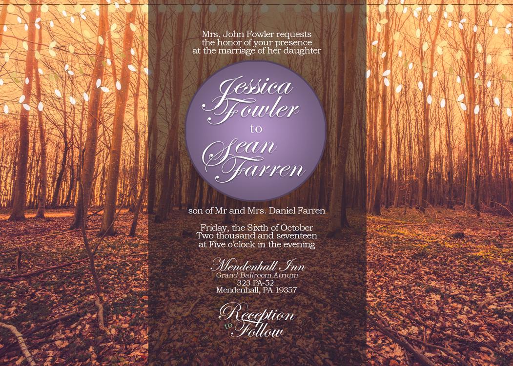 """Fowler - Wedding Invite - 5 x 7"""""""