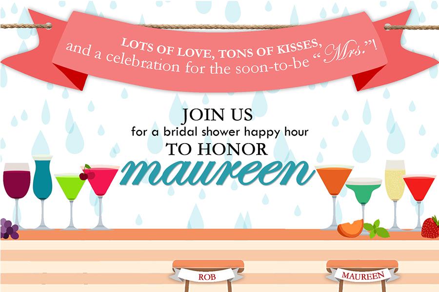 Bridal Shower Happy Hour Invitation