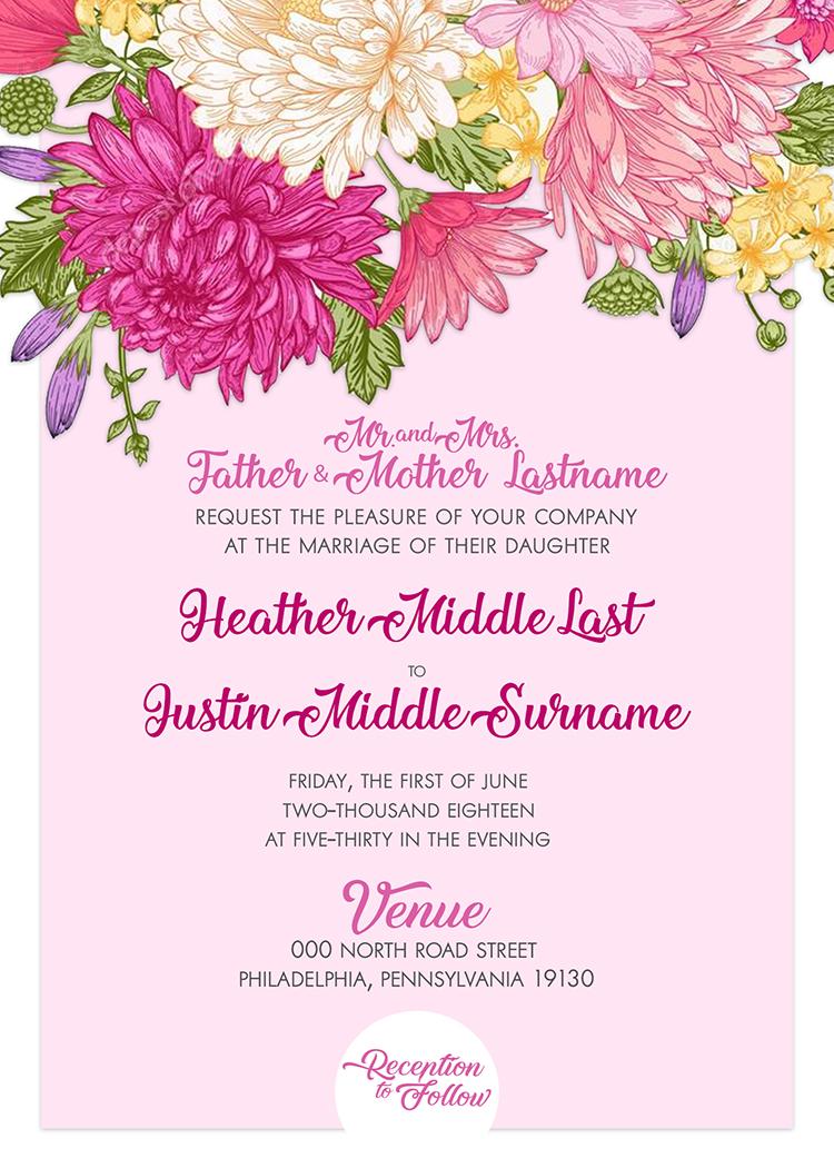 Spring has SPRUNG - Wedding Invite (5 x 7)