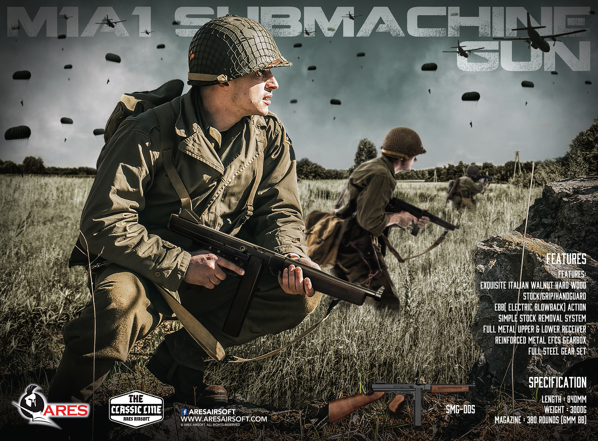 M1A1 Submachine Gun Poster