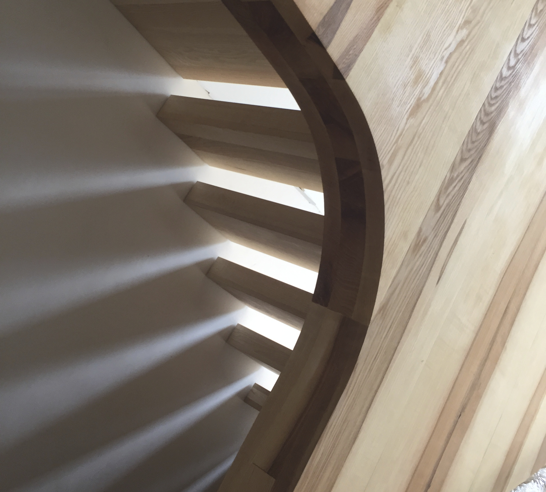 light under stairs