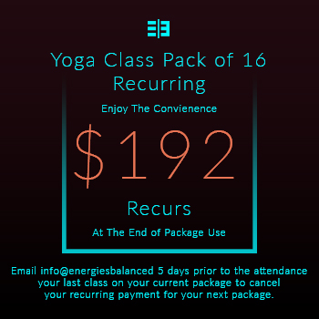 Website Pricing Option - Image - Yoga Class Pack of 16 Recuring - $192.00 - 350px by 350px.jpg