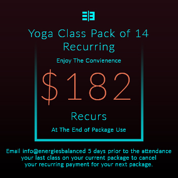 Website Pricing Option - Image - Yoga Class Pack of 14 Recuring - $182.00 - 350px by 350px.jpg