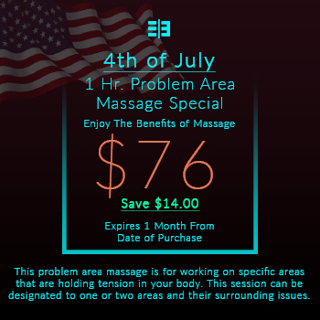 Website Pricing Option Image - 4th of July Special - 1 Hr. Problem Area Massage - $76.00 - 350x350px.jpg