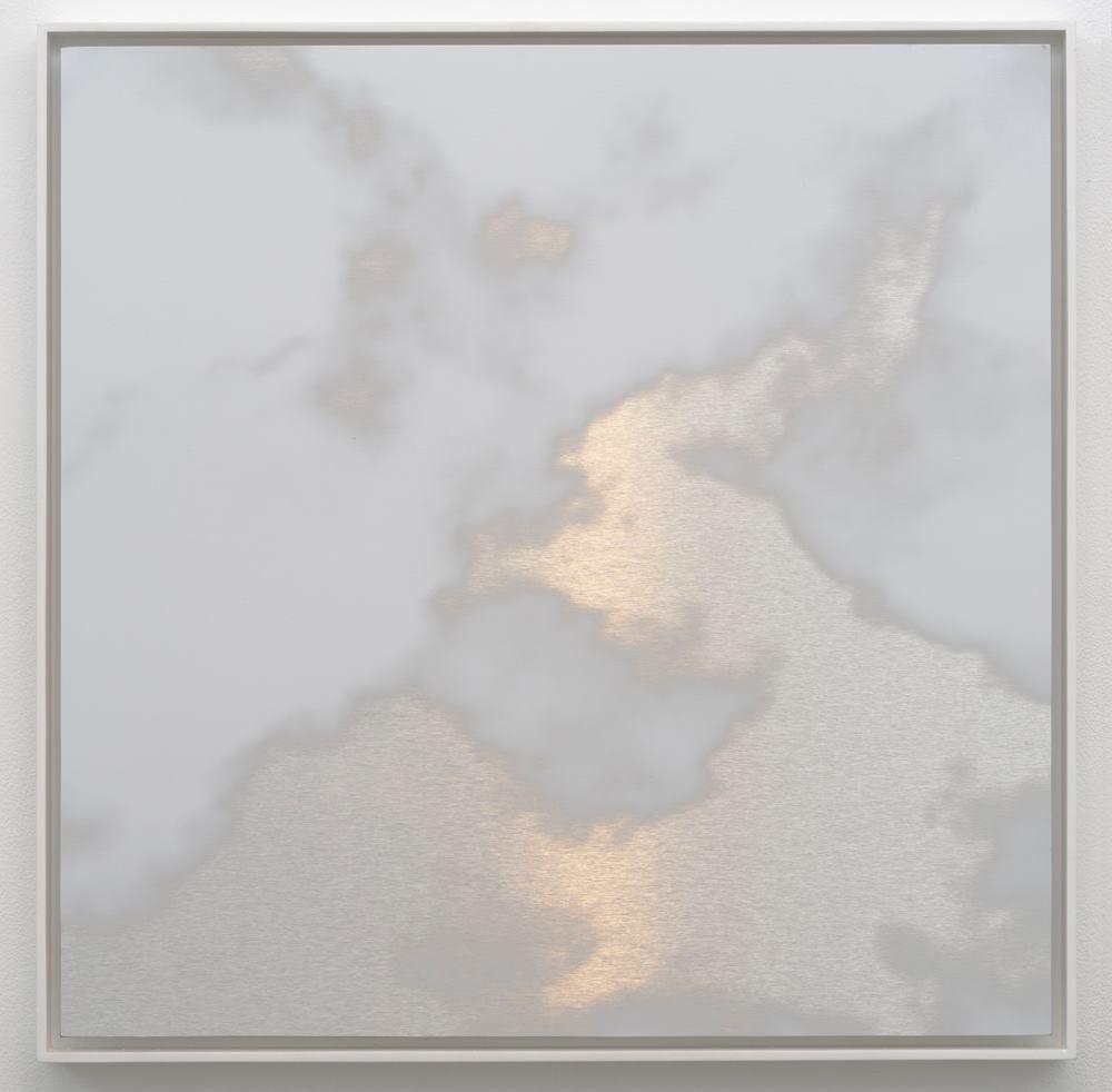 "MIYA ANDO Kumo (Cloud) 5, 2016   ink on stainless alucore   25 x 25"""