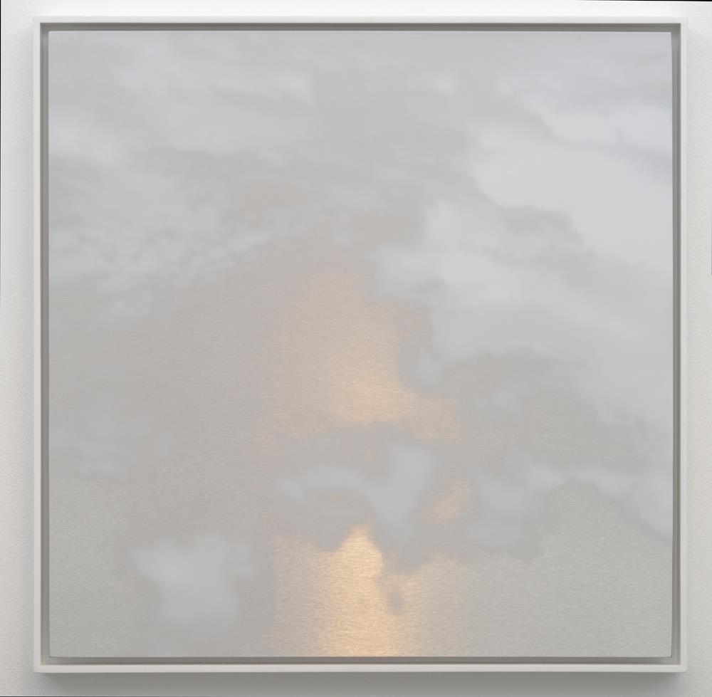 "MIYA ANDO Kumo (Cloud) 7, 2016   ink on stainless alucore   25 x 25"""