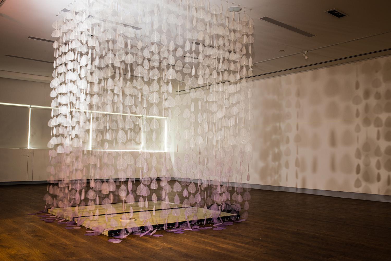"""""""MEDITATION ROOM,"""" NIPPON CLUB, TOHOKU EARTHQUAKE MEMORIAL INSTALLATION, NY, NY 2016"""