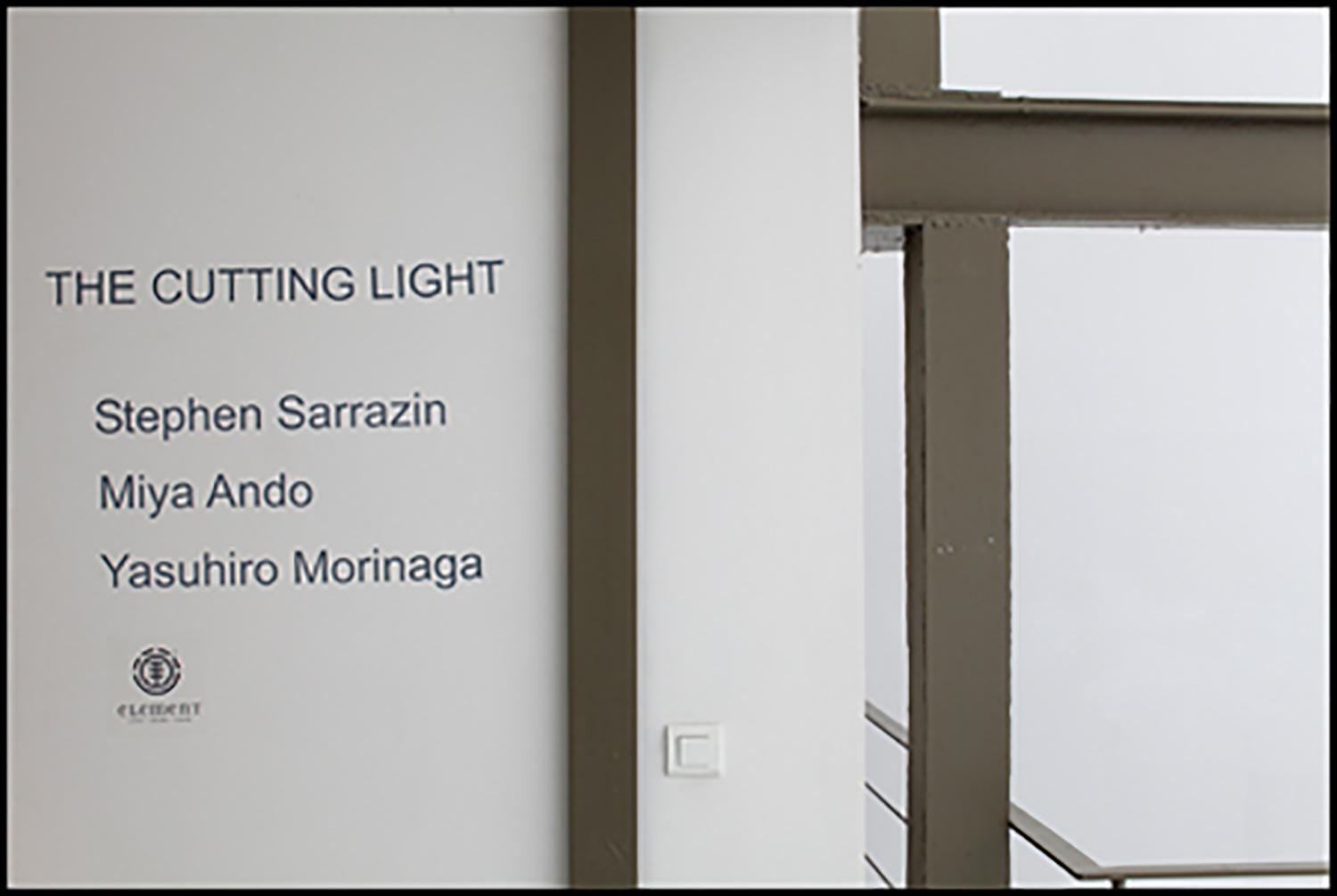 """THE CUTTING LIGHT,"" GALERIE VANESSA QUANG, PARIS, FRANCE 2011"
