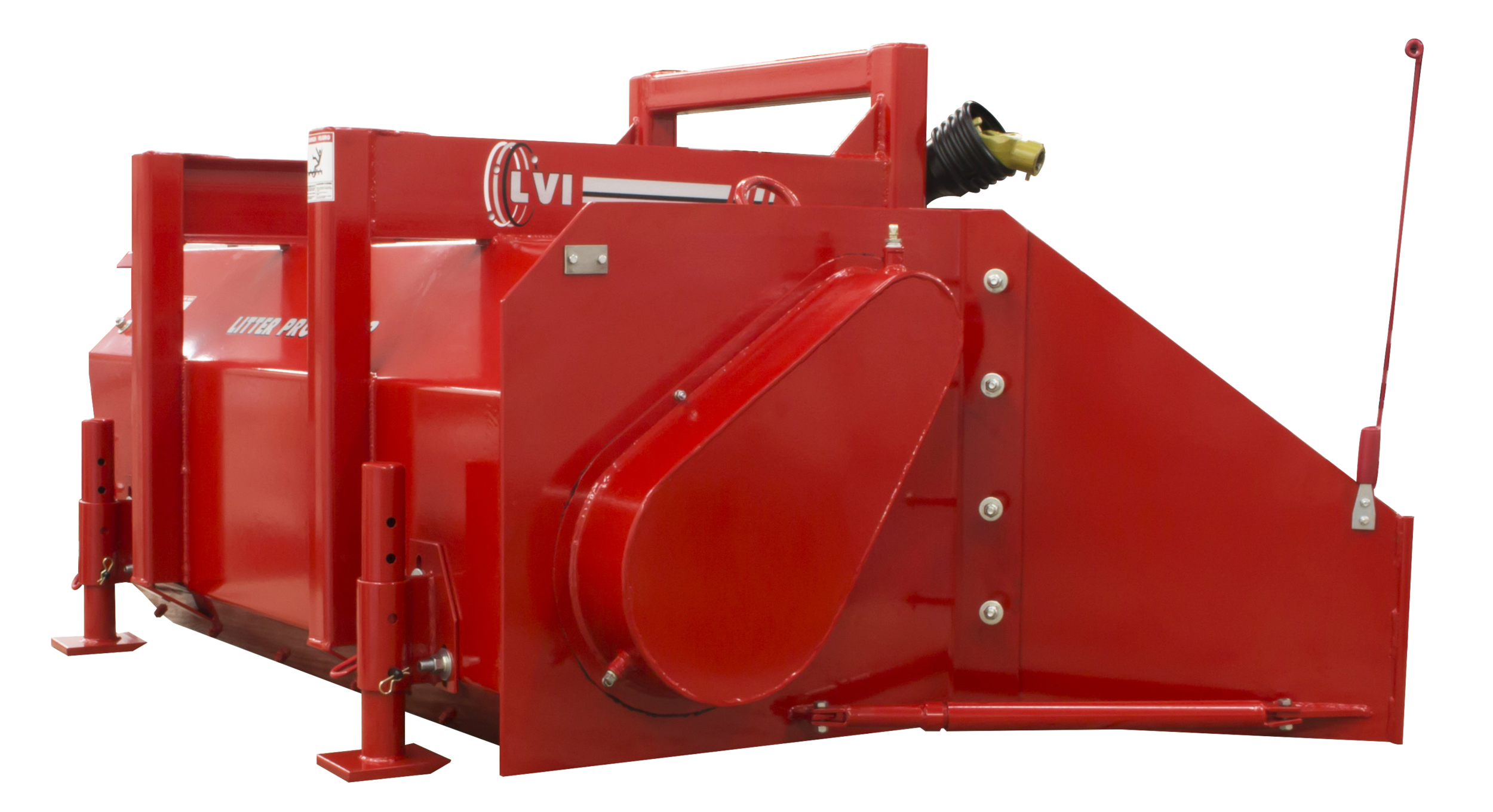 JR60 Poultry Litter Windrower Machine Side