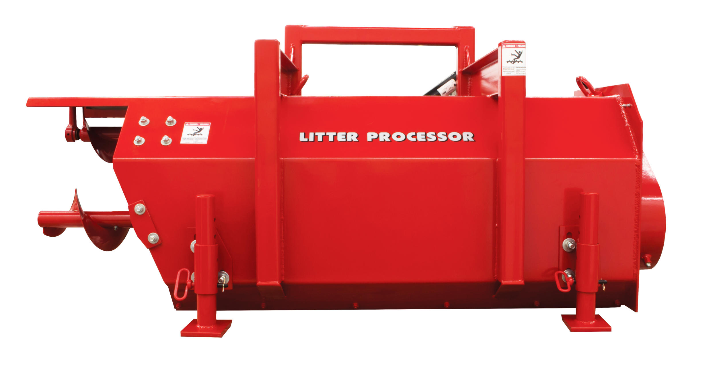 JR60 Poultry Litter Windrower Machine Back