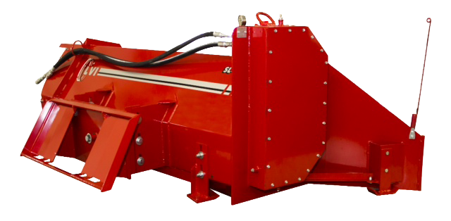 SL-84 Poultry Litter Windrower Machine Side
