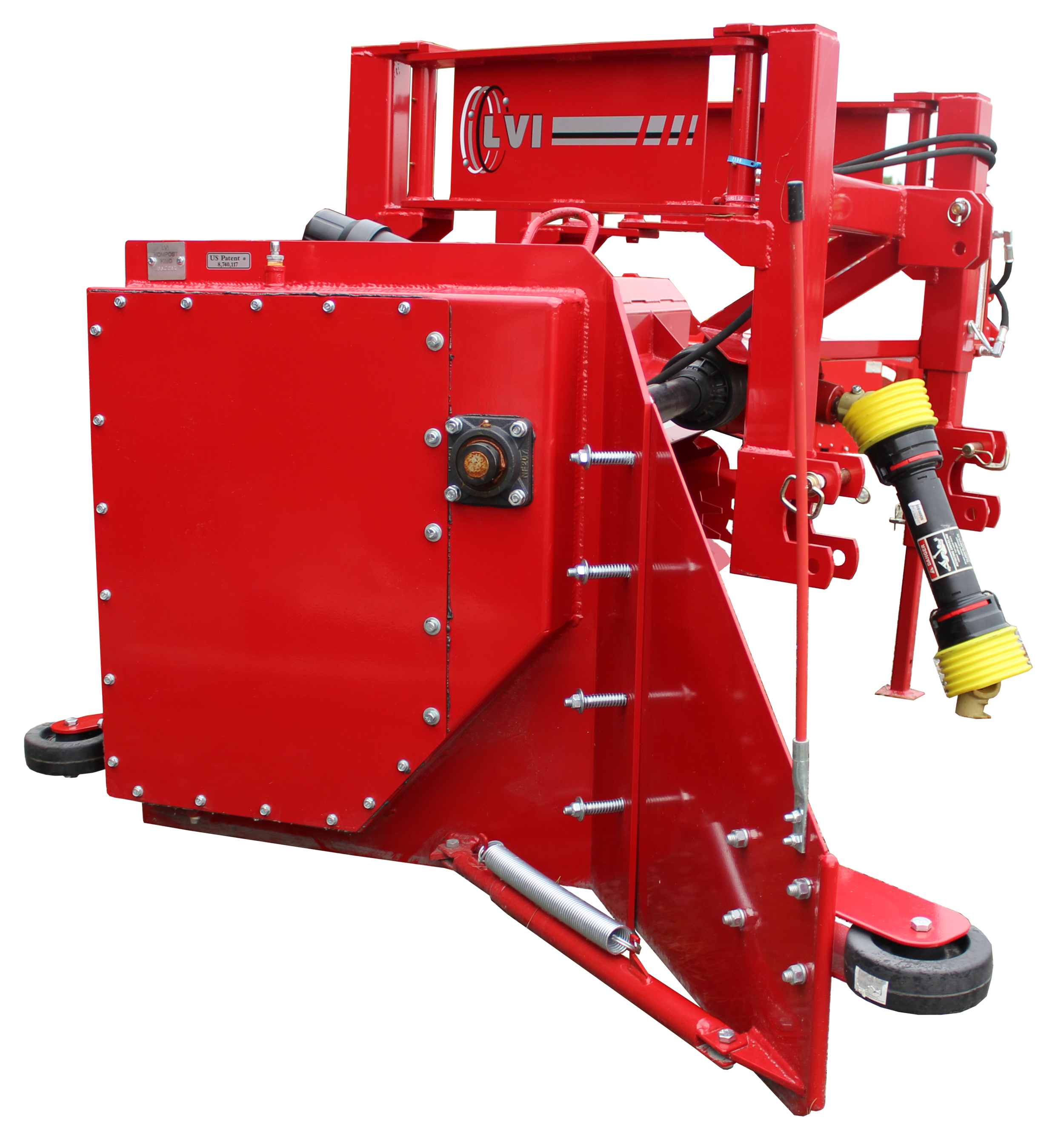 Kompost King Poultry Litter Windrower Machine Wheels