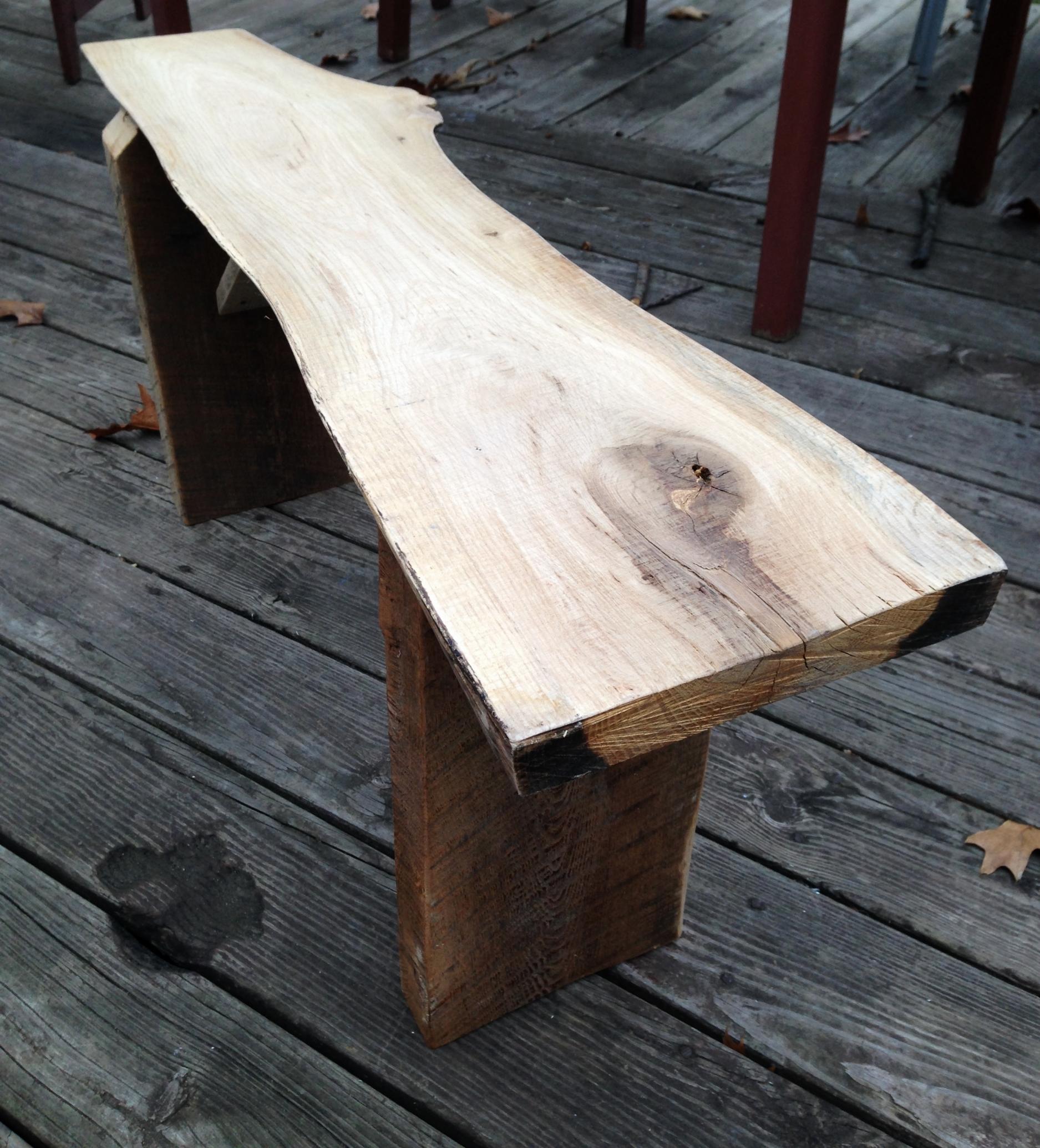 Rough Hewn Natural Bench - $70