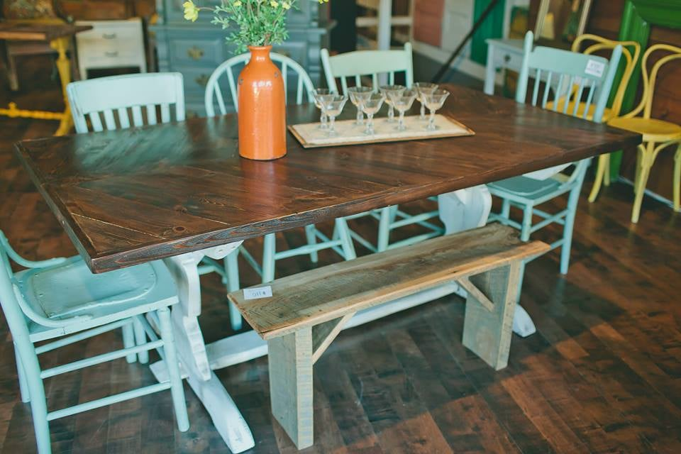 Chevron Dining Table - $650  Bases may vary.
